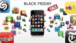smartphone com aplicativos e descontos em Black Friday