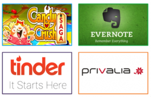 logotipos de aplicativos e jogos para dispositivos móveis