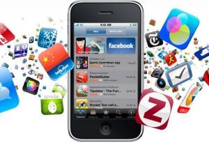 smartphone com muitas aplicações
