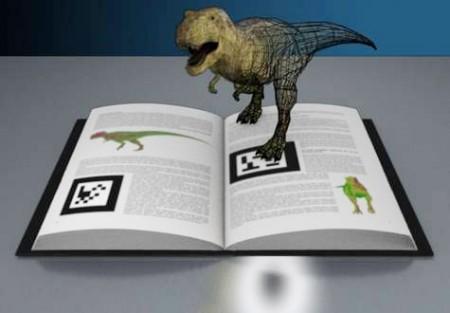 livro com dinossauro