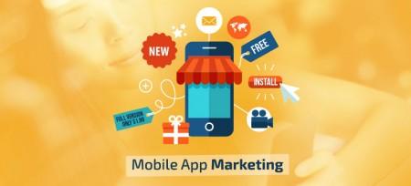 loja de aplicativos e smartphones desenhada