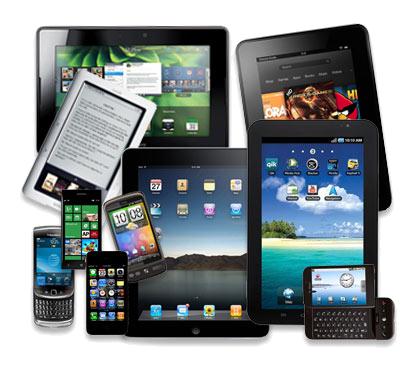 dispositivos eletrônicos pretos