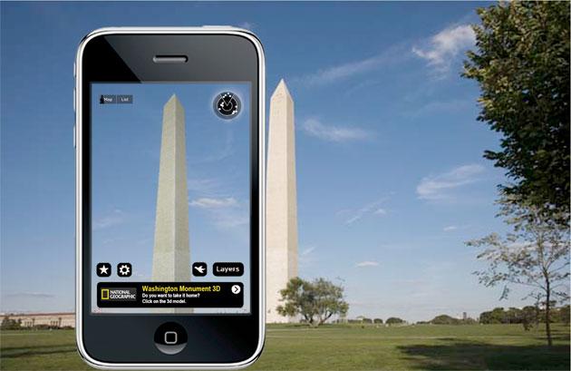 celular fotografando monumento