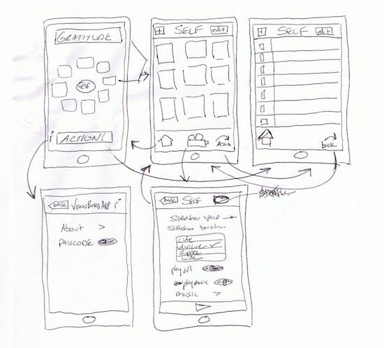 design de telefone móvel na folha de papel
