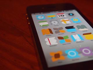 móvel com aplicações abertas