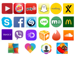 logotipos de aplicativos para dispositivos móveis