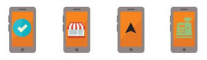 quatro design de telefone móvel