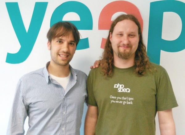 Héctor Badal com desenvolvedor