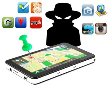 desenho de smartphone com mapa e pessoa em preto