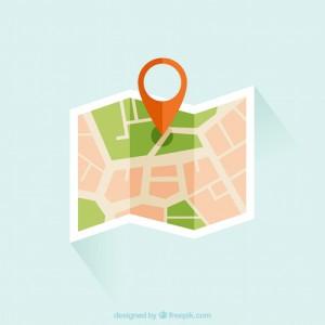 desenho do mapa com localização